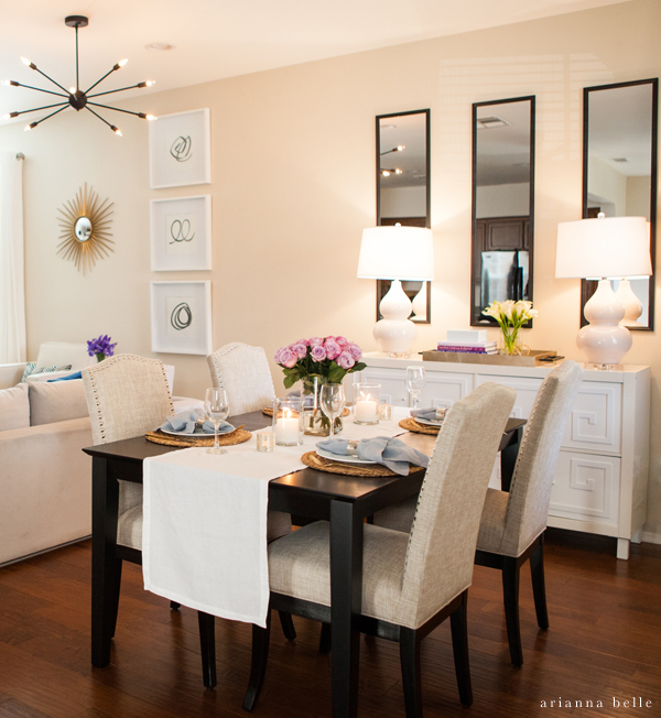 Living Room With Dining Table: Gallery Wall Seen In