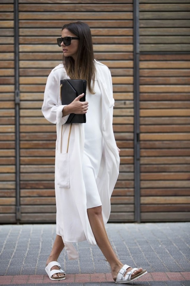 summer-work-outfits-little-white-dress-white-duster-coat-birks-black-clutch-all-white-via-naimabarcelona.tumblr.com_-640x960